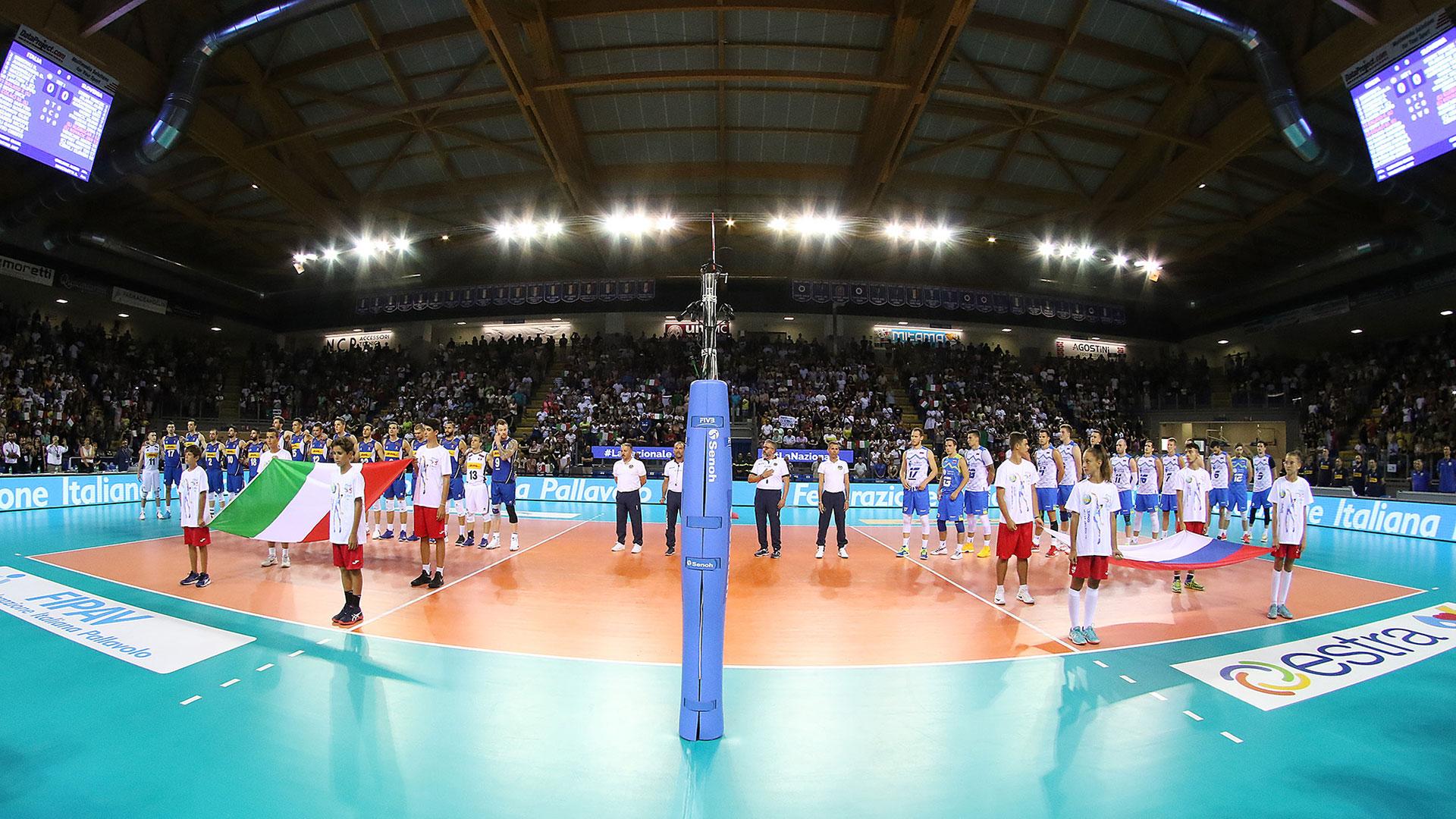 La Nazionale italiana di volley saluta Civitanova Marche