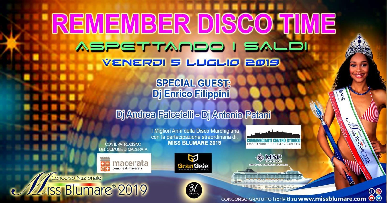 """Macerata, moda e musica con """"Remember disco time"""""""