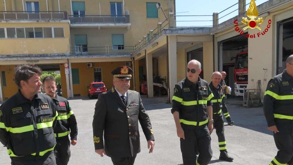 Il Direttore Regionale Vigili del Fuoco in visita a Macerata