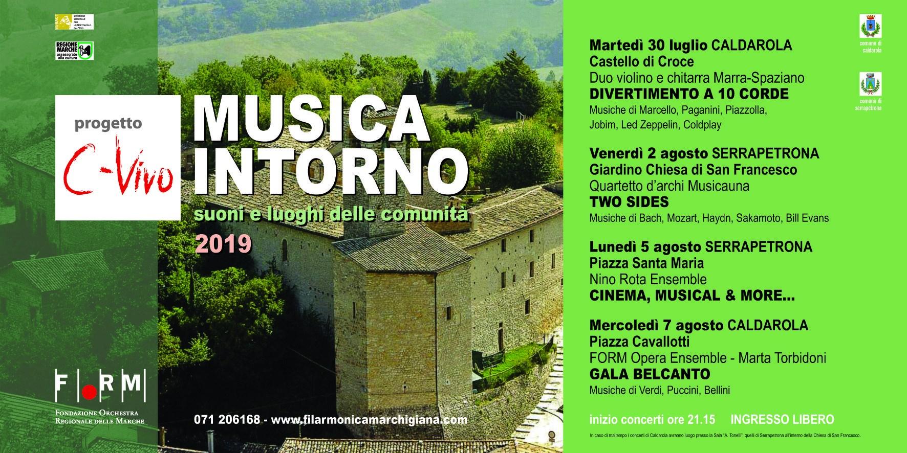 Musica e cinema, concerto della FORM a Serrapetrona
