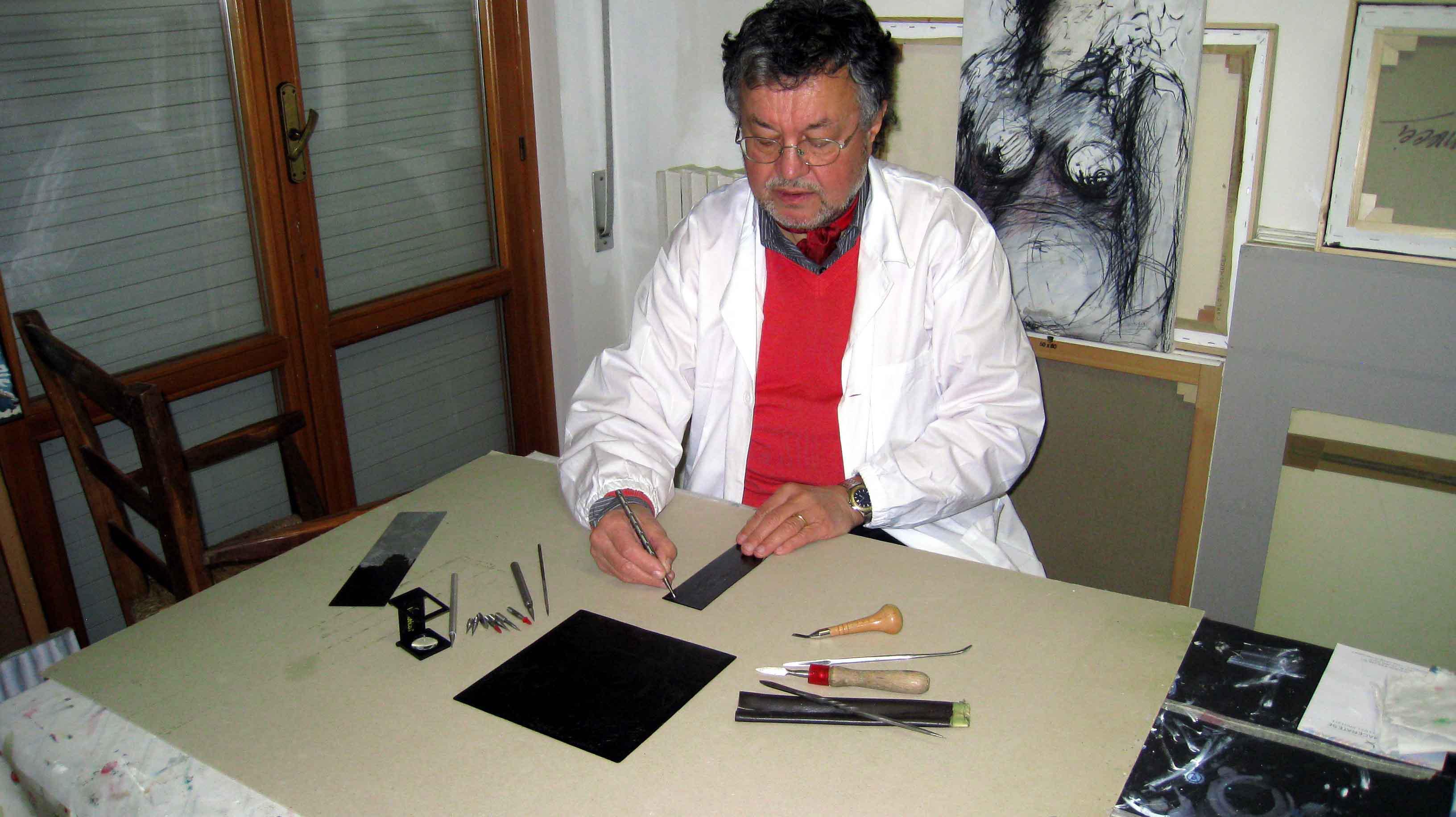 """I """"Percorsi Arcobaleno"""" di Carlo Iacomucci, incisore e pittore"""