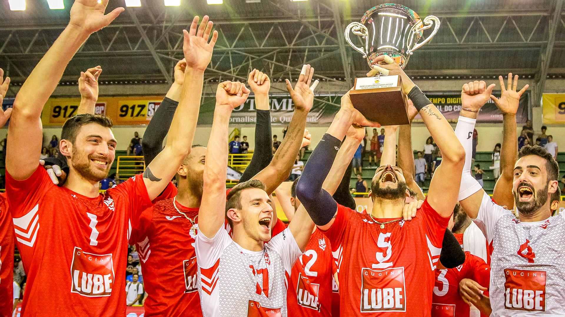 Lube campione del mondo, 3-1 in finale al Sada Cruzeiro