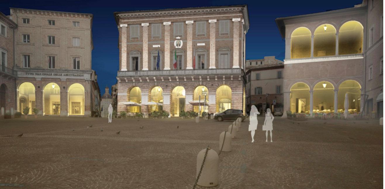 Macerata, progetto di light design per piazza della Libertà