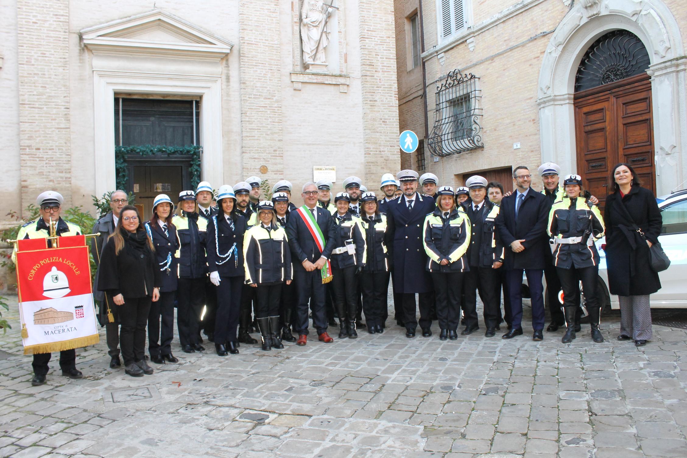 Macerata, la Polizia locale celebra il patrono San Sebastiano