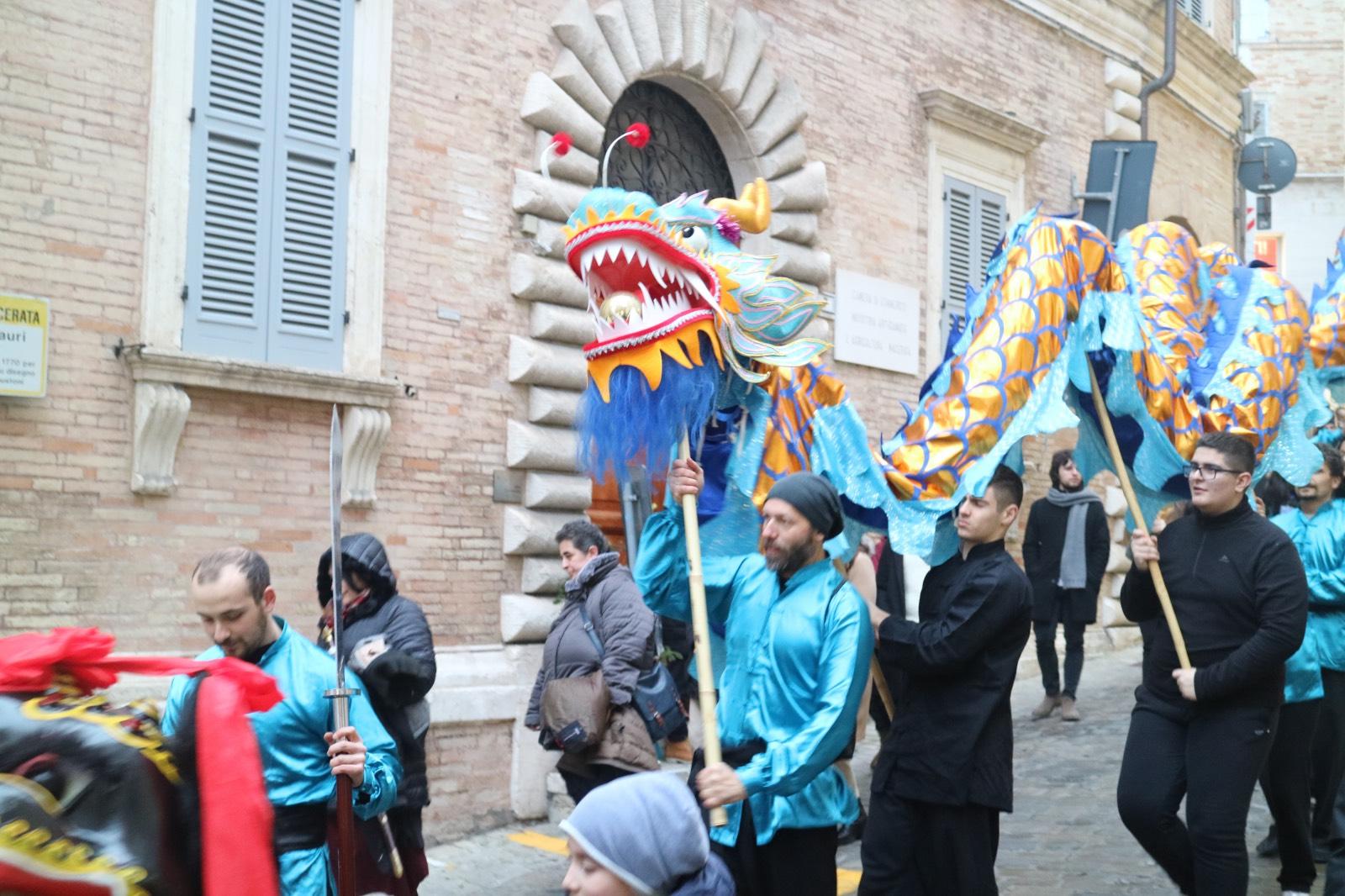 Macerata, i colori della festa per il Capodanno Cinese