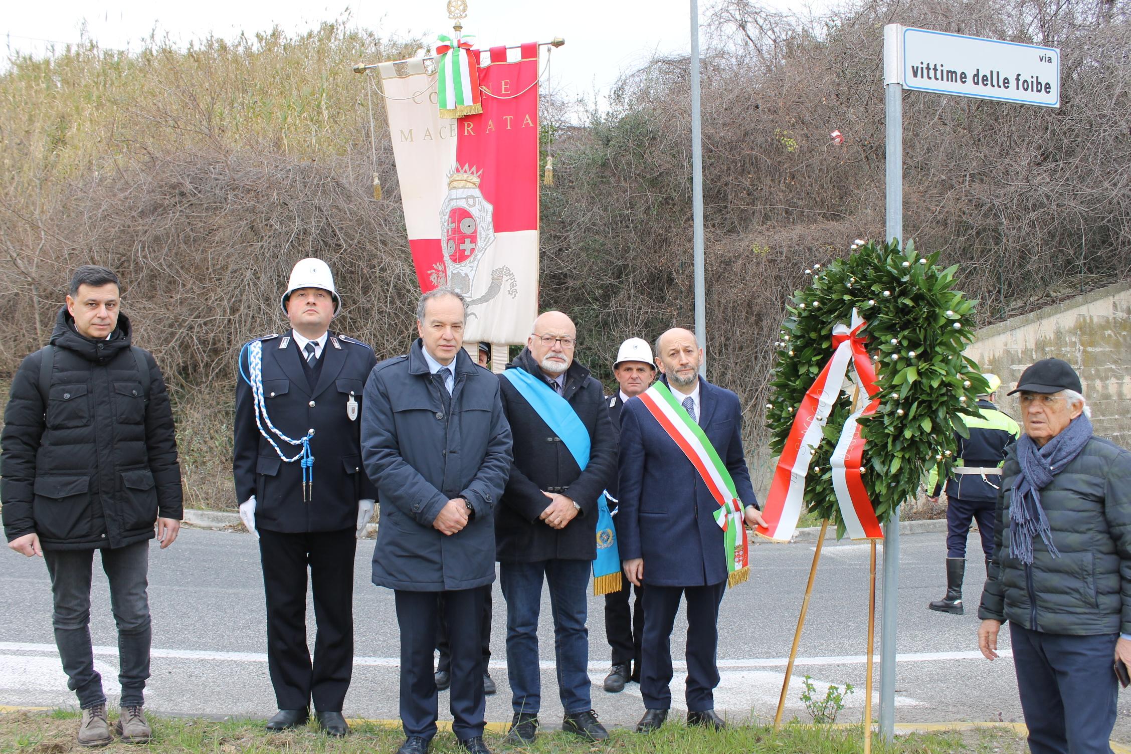 Macerata, cerimonia per ricordare le vittime delle Foibe