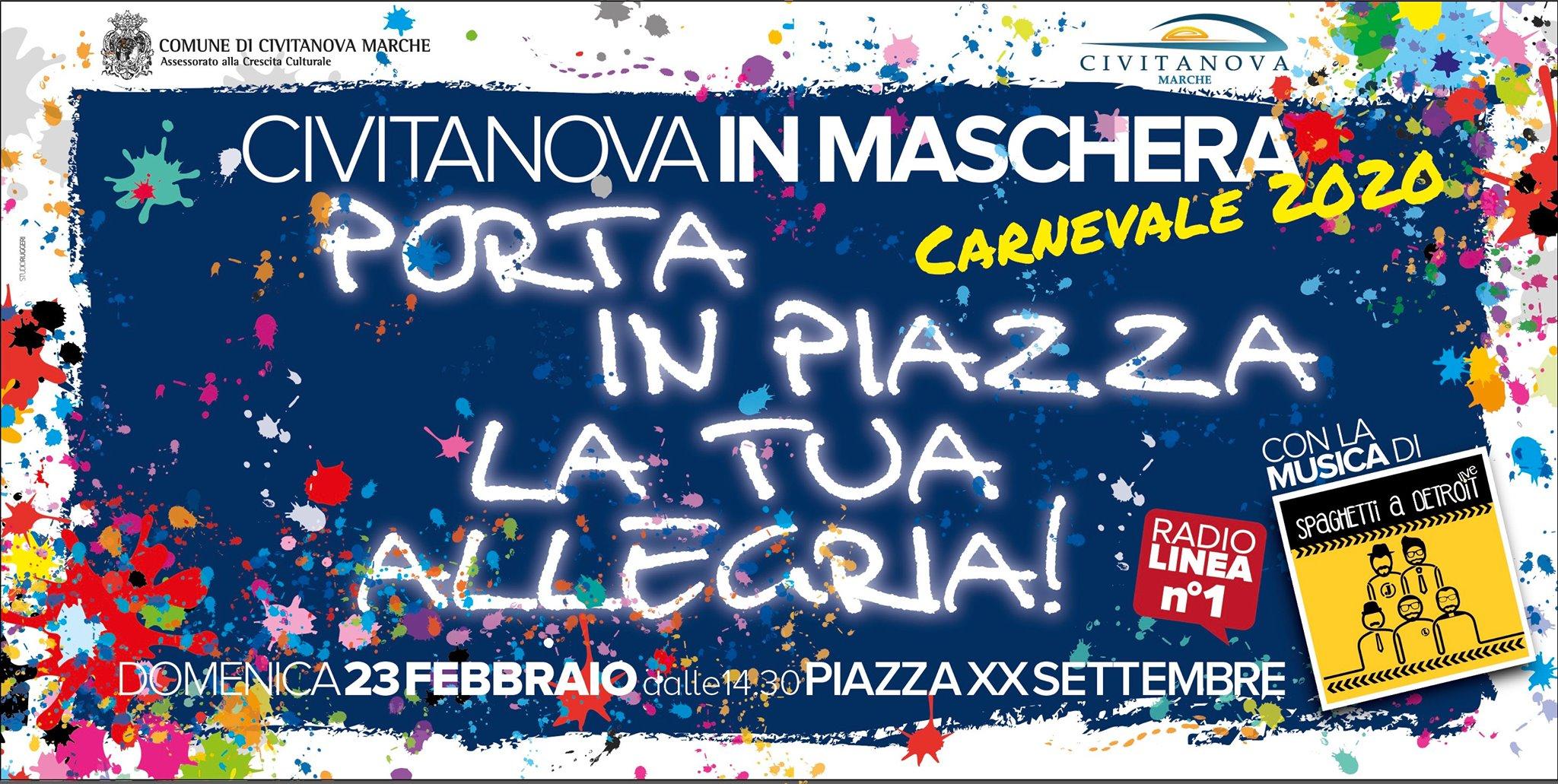Civitanova in Maschera, ritmo e divertimento per il Carnevale