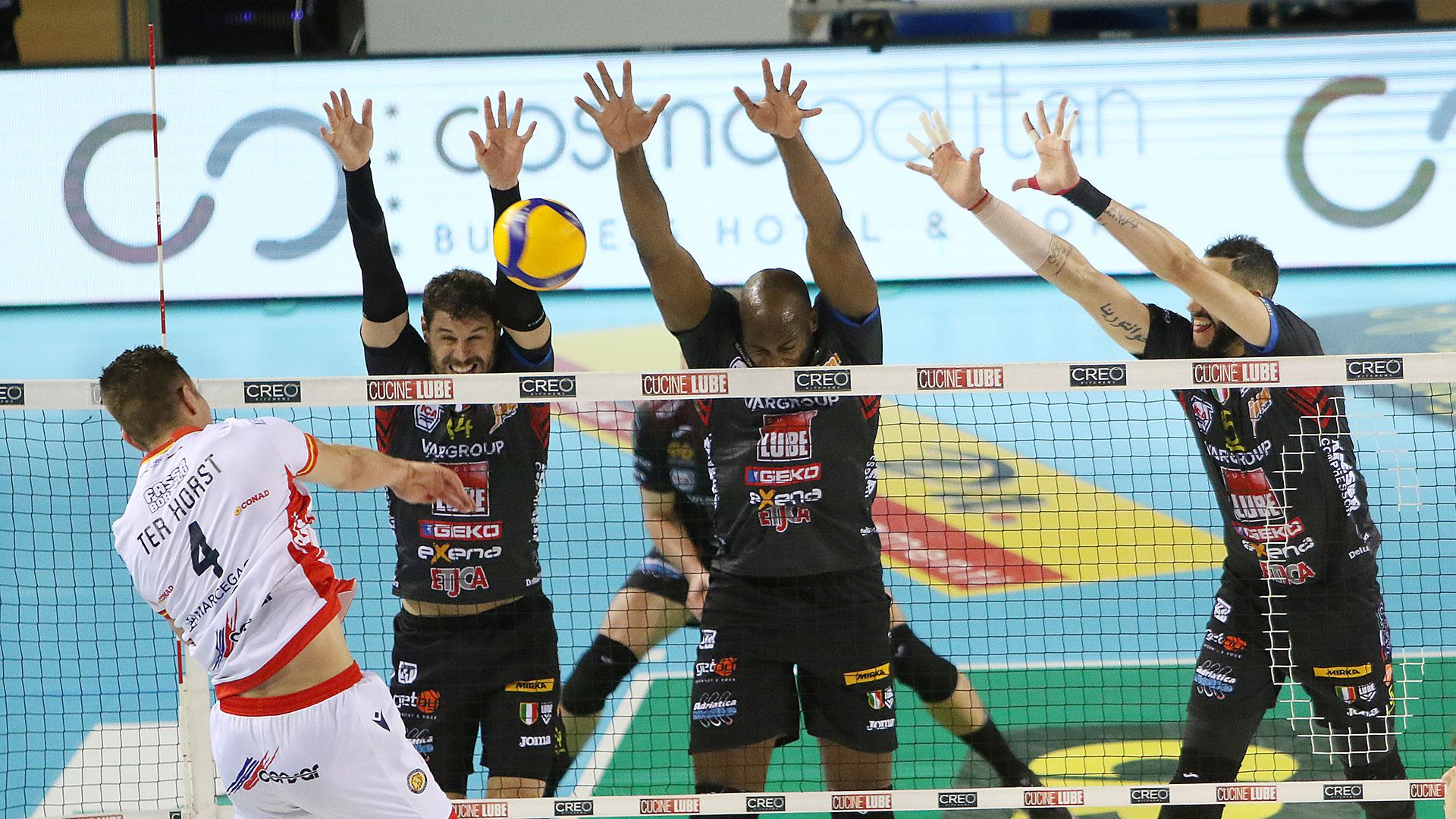 Lube-Consar Ravenna 3-0, immediato ritorno alla vittoria