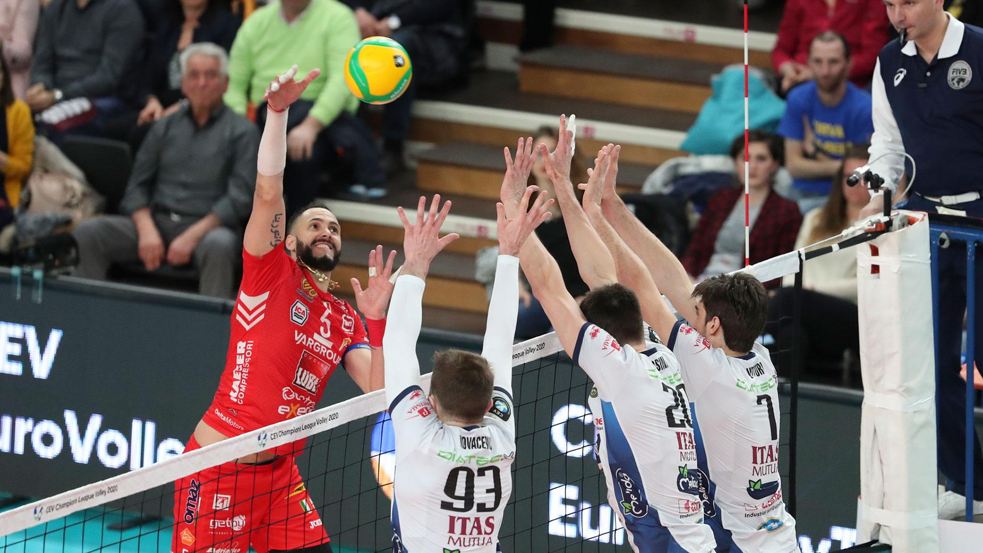 Itas Trentino-Lube 1-3, biancorossi primi nel girone Champions