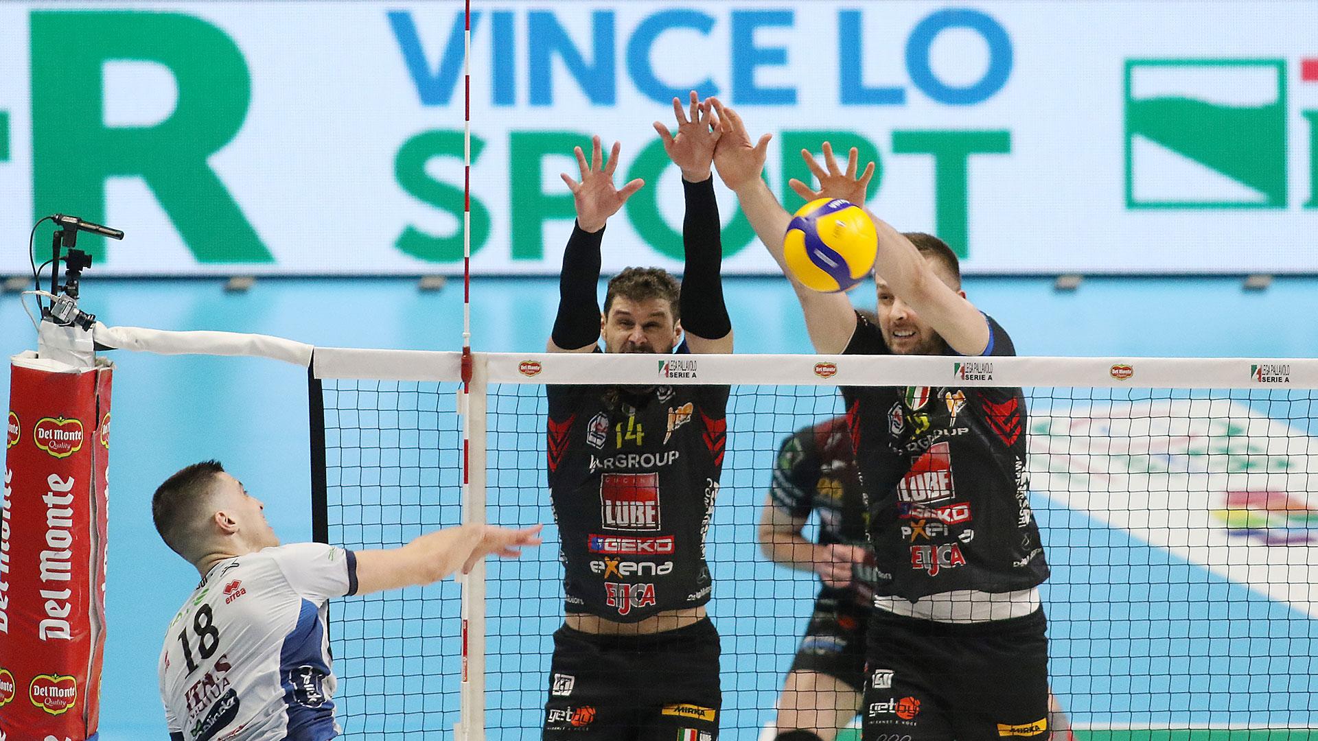 Lube-Itas Trentino 3-2, la finale di Coppa Italia sarà con Perugia