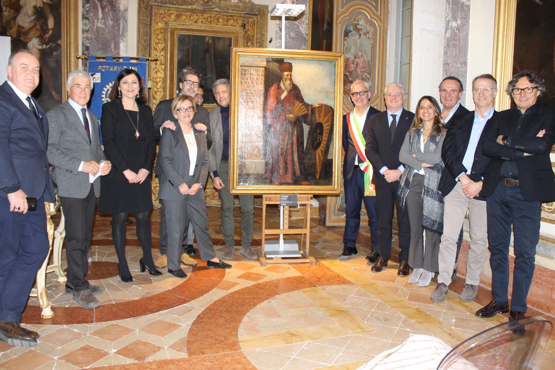 Il dipinto di Padre Matteo Ricci torna a Palazzo Buonaccorsi