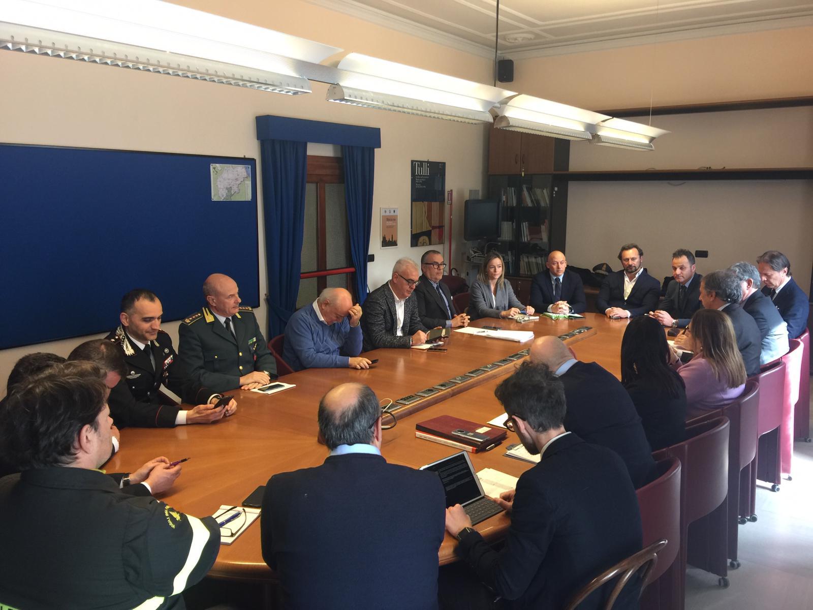 Prefettura, riunione del Comitato per l'ordine e la sicurezza