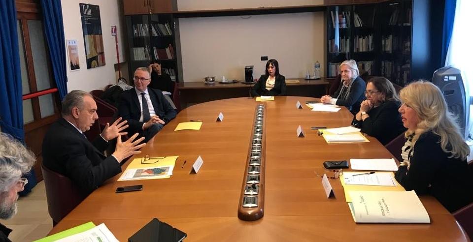 Il commissario alla ricostruzione Legnini in Prefettura a Macerata