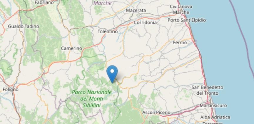 Terremoto 3.6 nel fermano, avvertito anche ad Ascoli e Macerata
