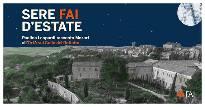 """Recanati, prima assoluta di """"Paolina Leopardi racconta Mozart"""""""