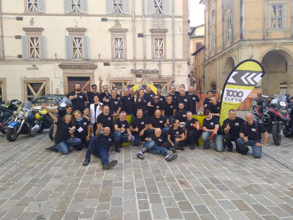 """Camerino, 50 motociclisti in città per la tappa delle """"1000 curve"""""""