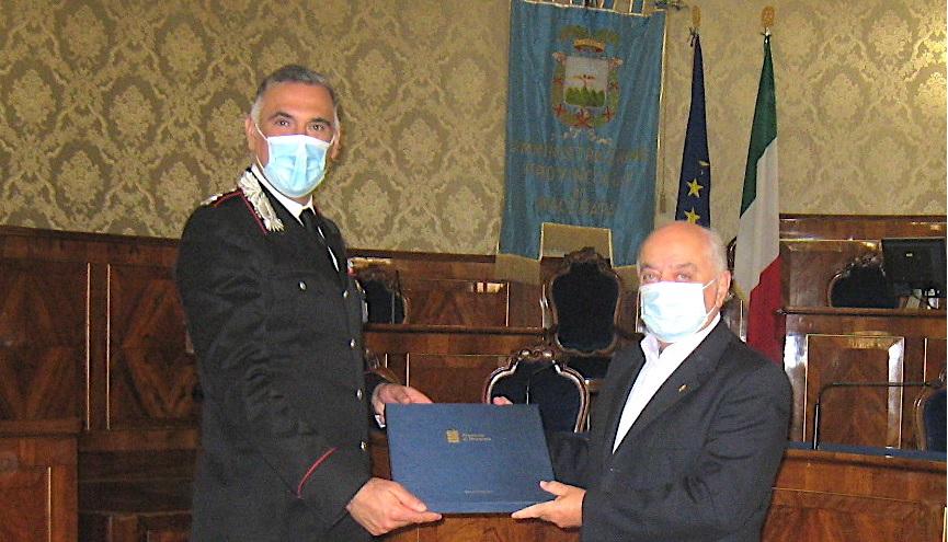 Provincia, Pettinari ha ricevuto il Comandante dei Carabinieri