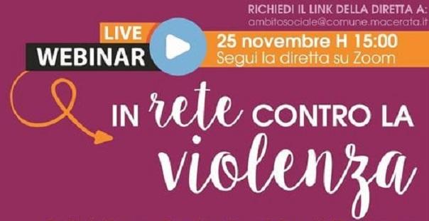 In rete contro la violenza, live webinar dell'ATS 15