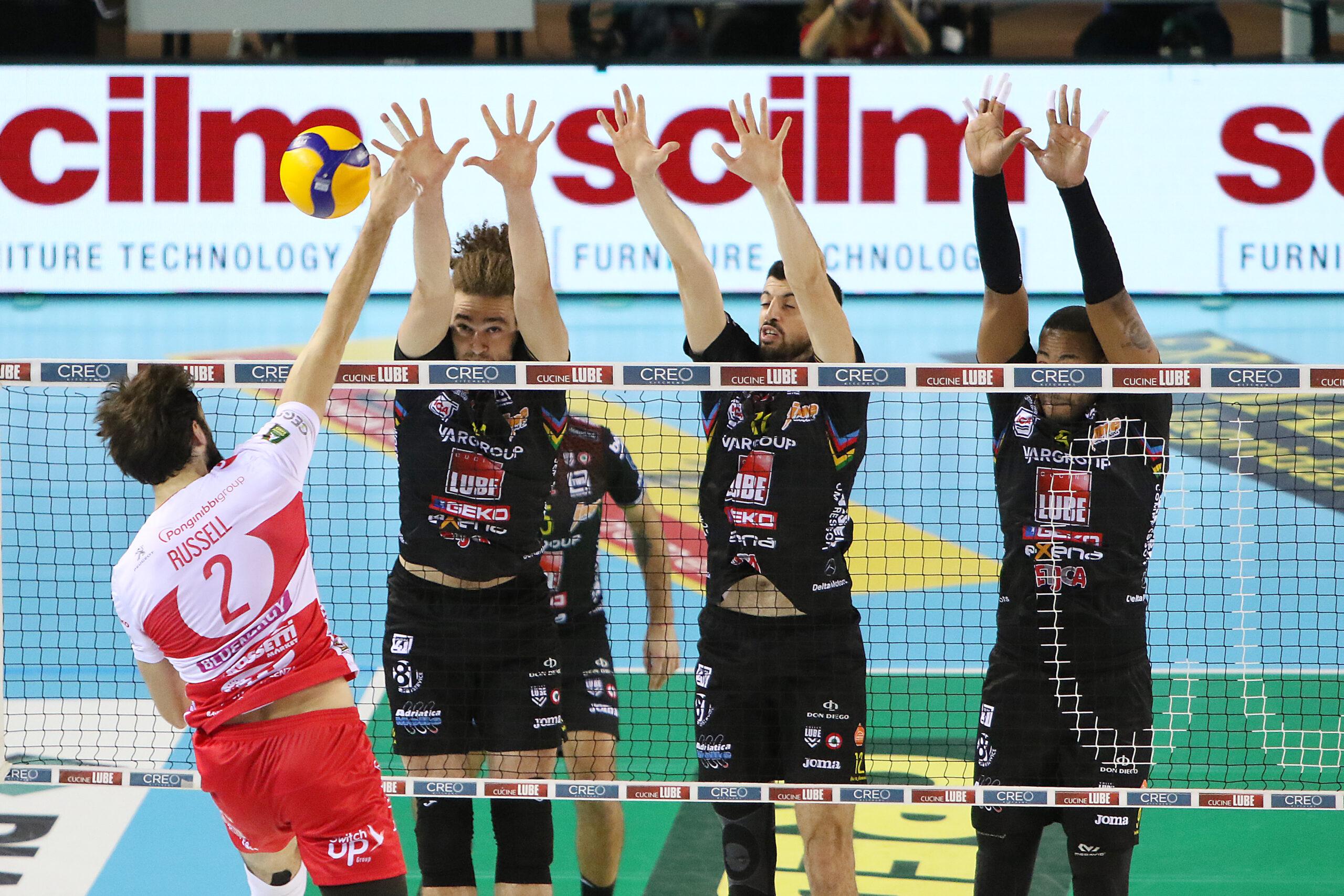 La Lube consolida il secondo posto, 3-1 al Piacenza di Bernardi