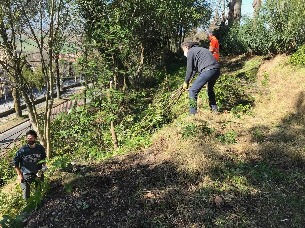 Recanati, cittadini partecipano alla sistemazione di aree verdi