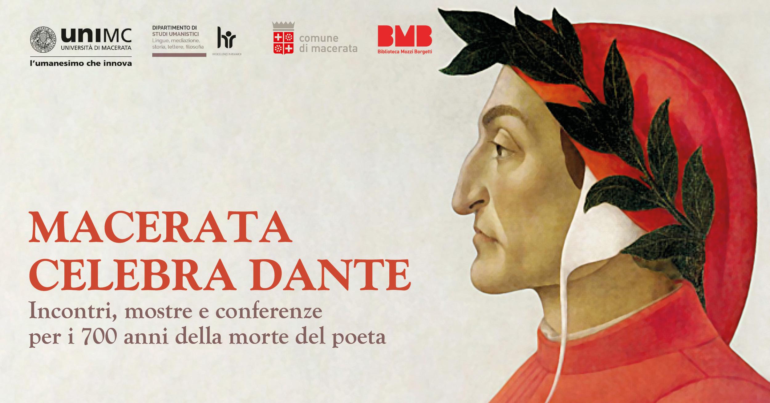 Macerata, presentati gli eventi per il 700° della morte di Dante