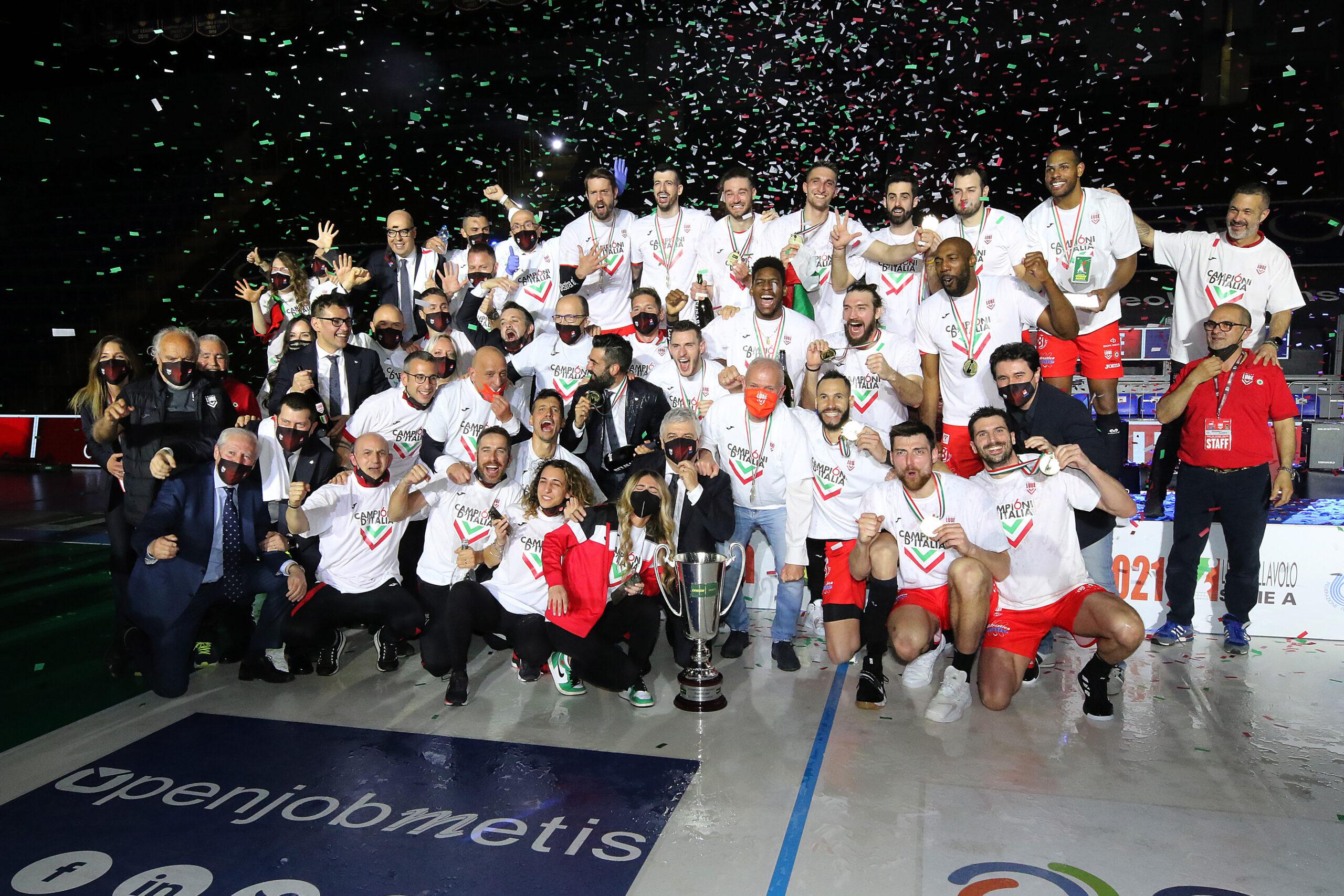 La Lube è campione d'Italia, piegata la Sir Safety Perugia (3-1)