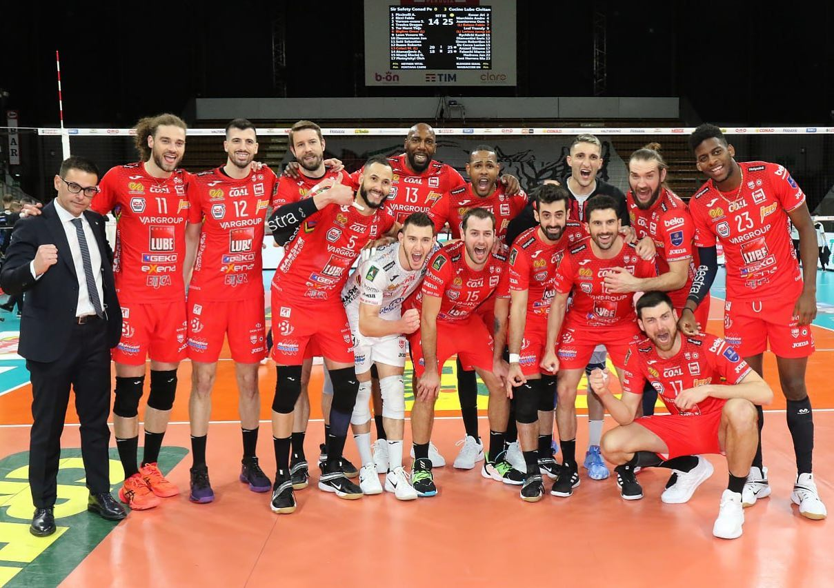 Lube, grande prova di squadra a Perugia (0-3) con Leal MVP