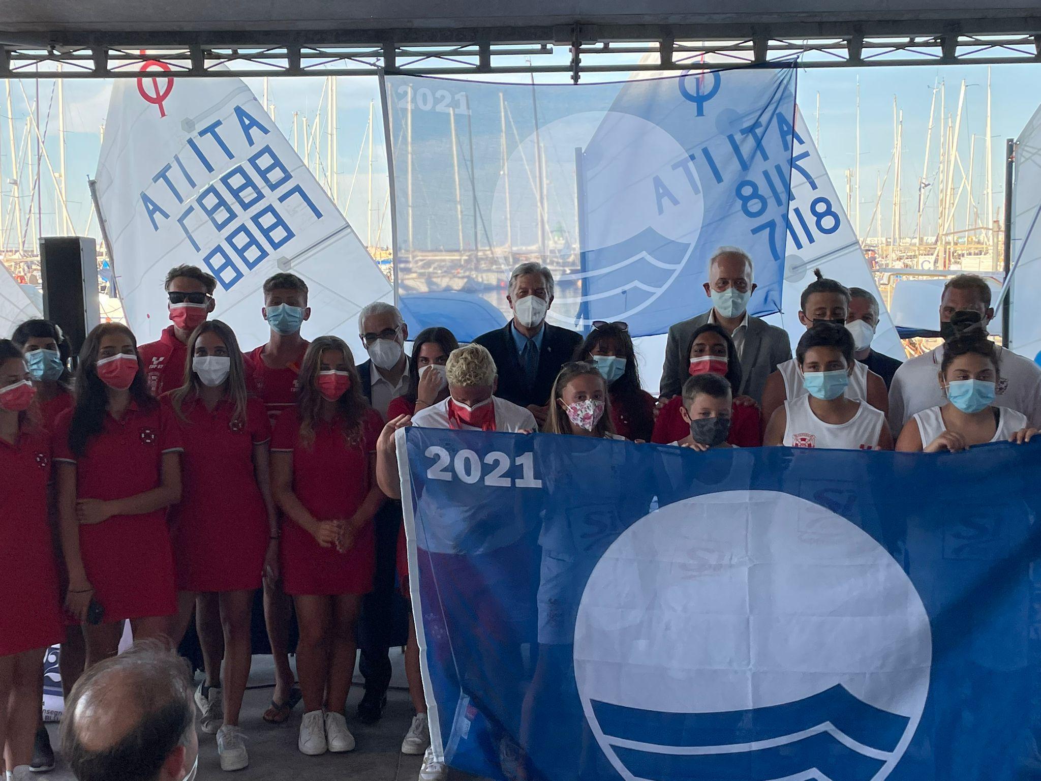 Civitanova Marche, festa al Club Vela per la Bandiera Blu