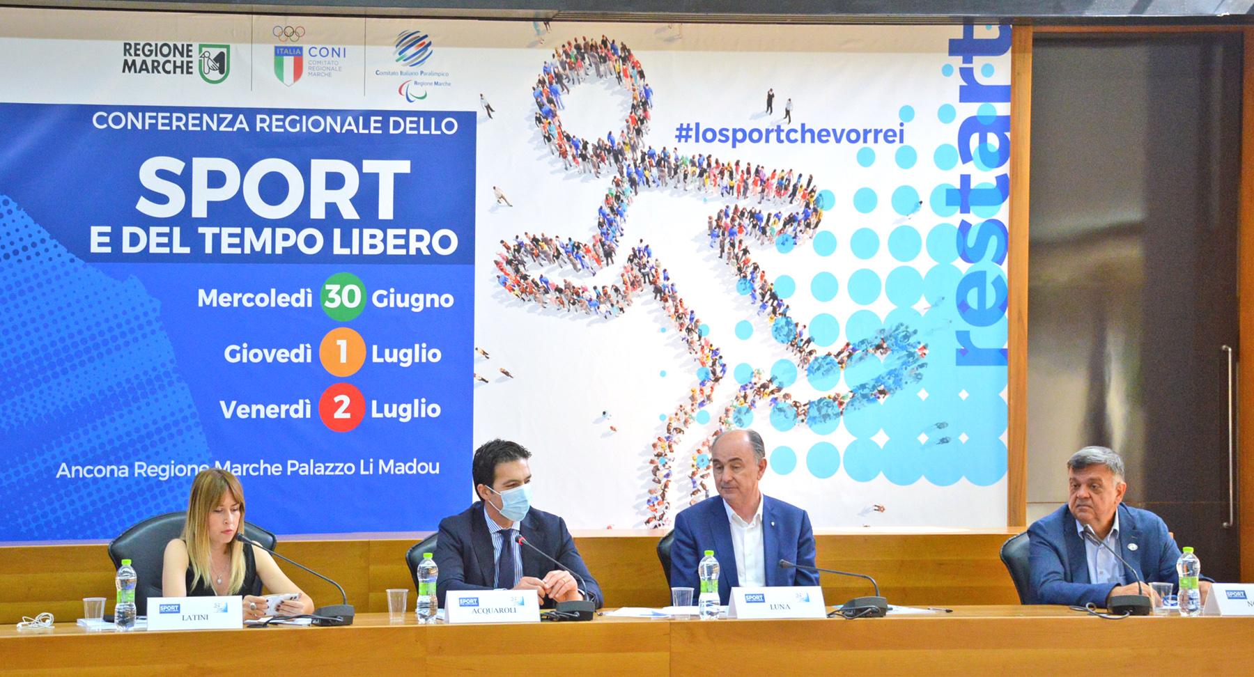 Marche, la Conferenza Regionale dello Sport e del Tempo Libero