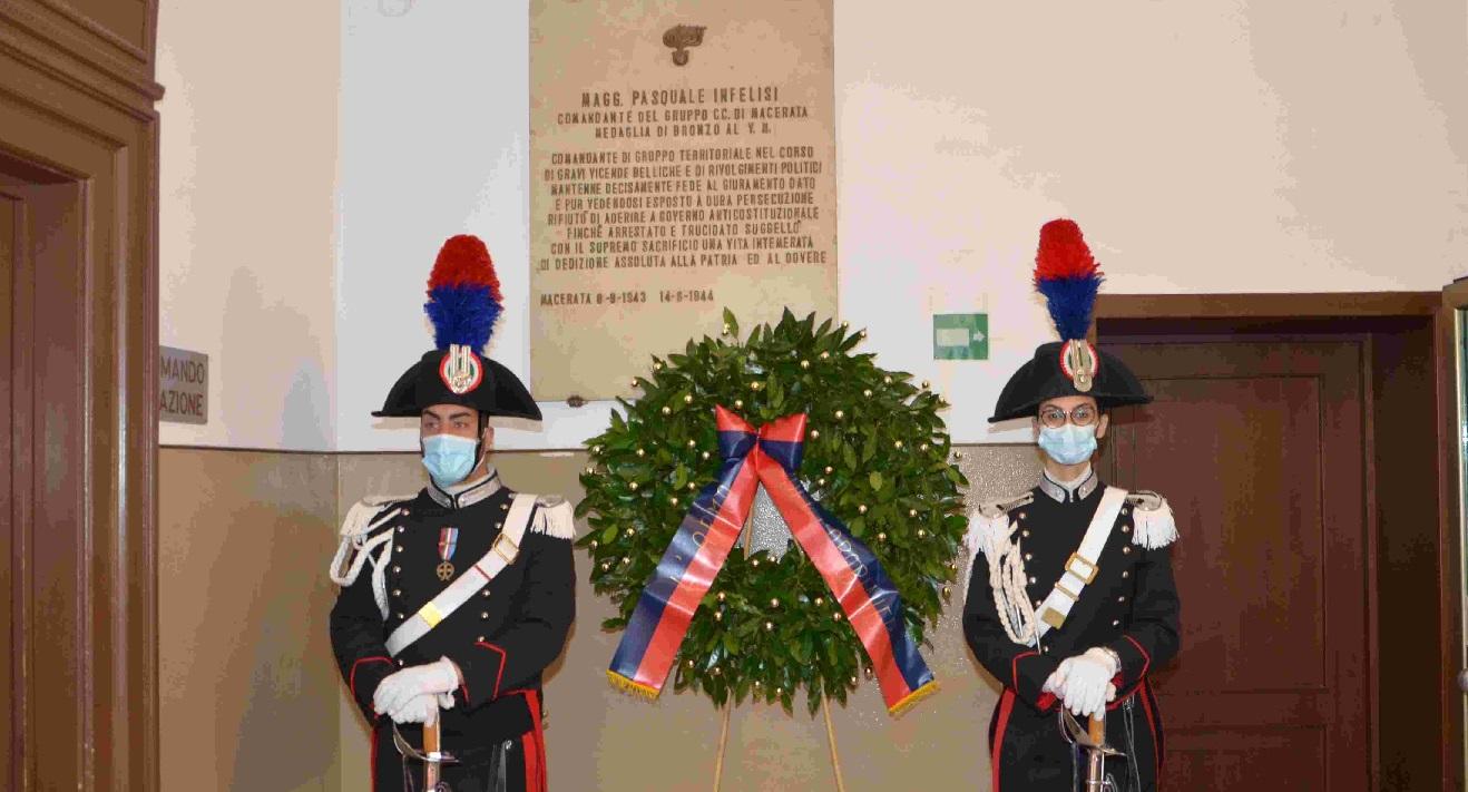 Carabinieri, sobria cerimonia a Macerata per il 207° dell'Arma