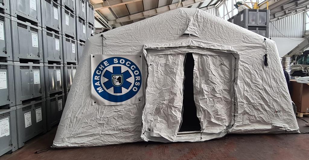 Marche, quattro nuove strutture campali per le calamità
