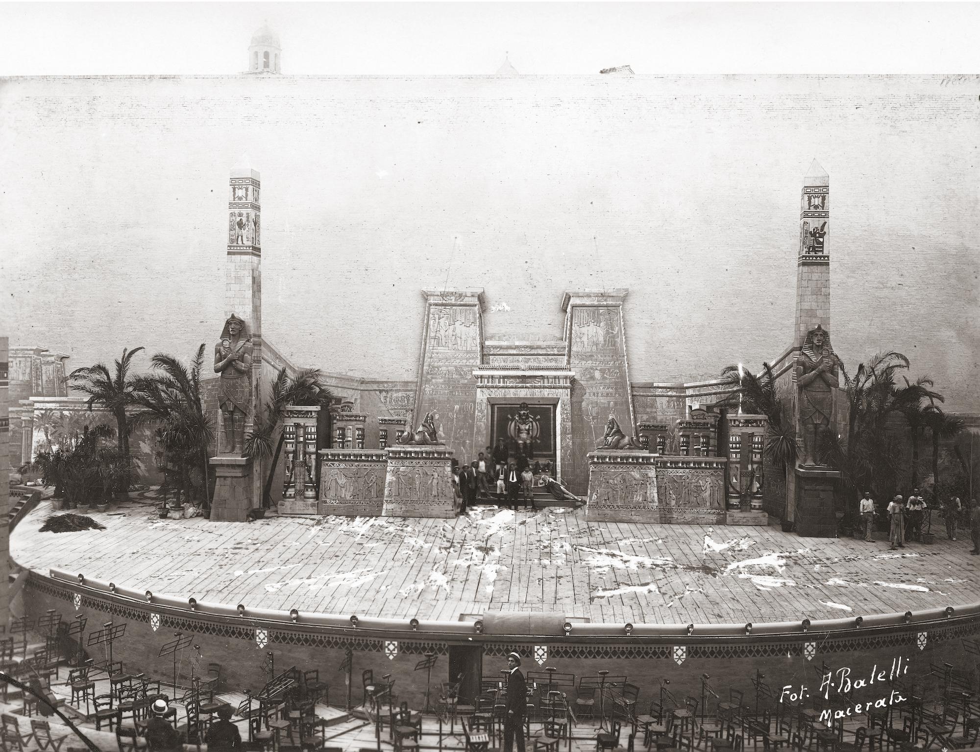 Macerata, l'Aida 1921 allo Sferisterio nelle foto di Alfonso Balelli