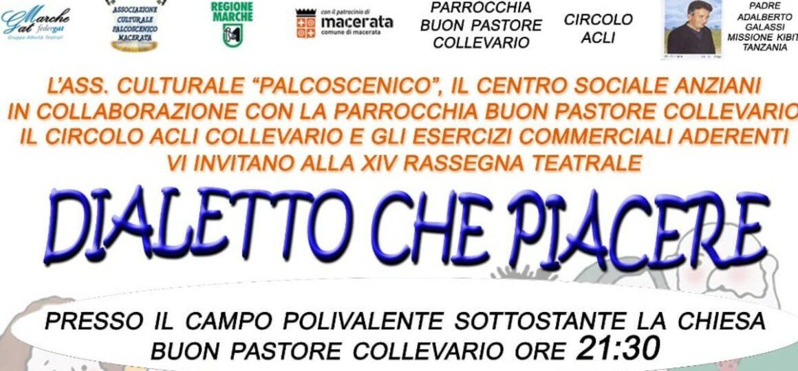 """Macerata, a Collevario la rassegna teatrale """"Dialetto che piacere"""""""
