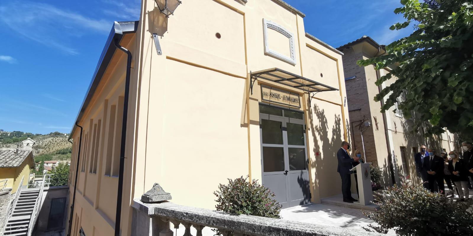 San Severino Marche, Legnini ha inaugurato nuova aula all'IPSIA